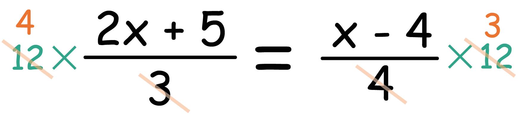 方程式 分数 解き方