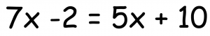 xの方程式