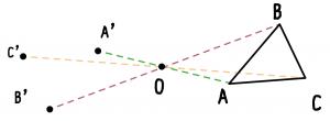 点対称 書き方