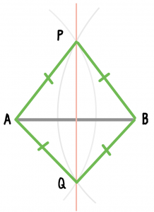 垂直二等分線 書き方