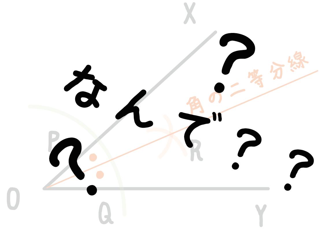 角の二等分線 作図 書き方