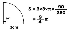 扇形 面積 求め方 公式