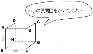 立方体 展開図 書き方