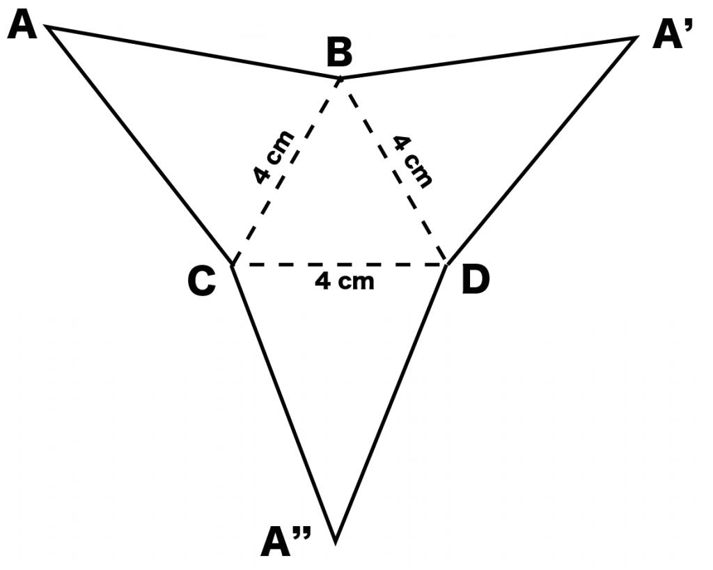 三角錐 展開図 書き方