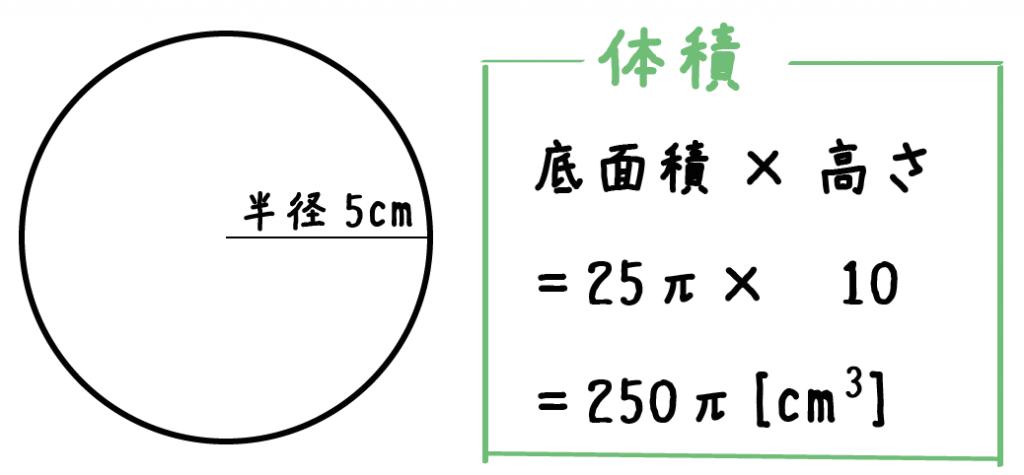 円柱 体積 求め方 公式
