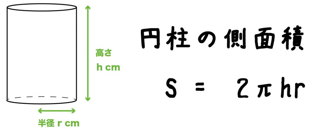 円柱 側面積 求め方 公式