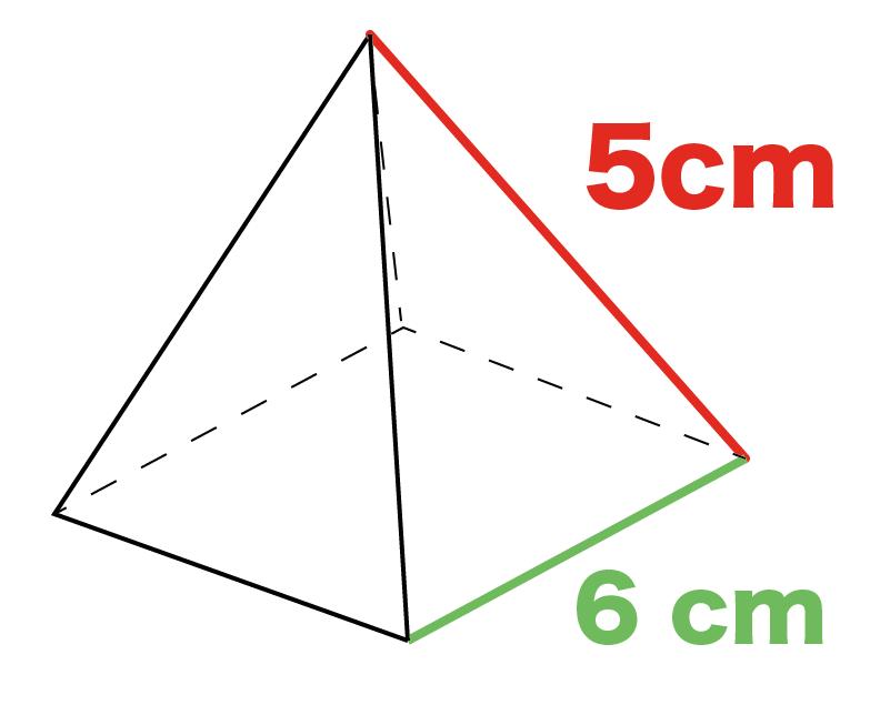正四角錐 表面積 求め方