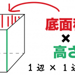 立方体 体積 求め方 公式