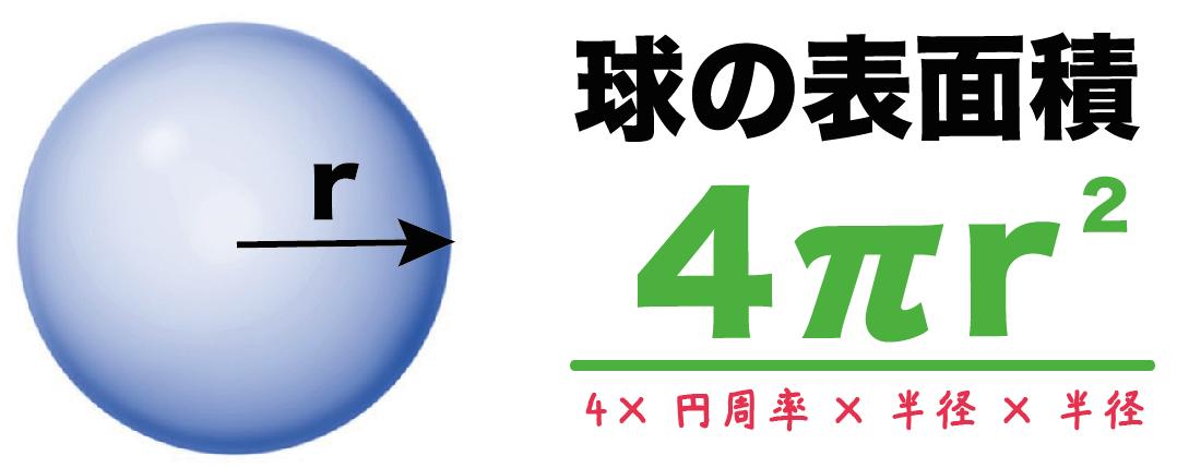 球 表面積 求め方 公式