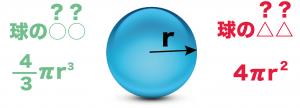 球 体積 表面積 公式