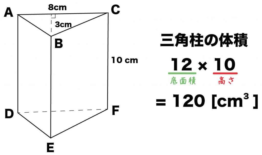 三角柱 体積 求め方 公式