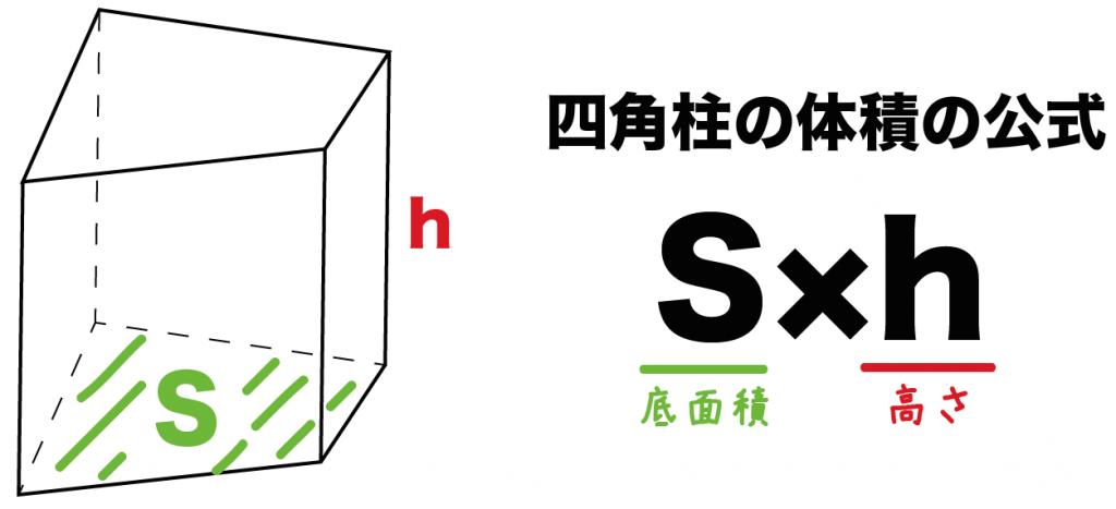 四角柱 体積 求め方
