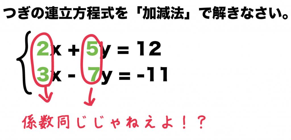 連立方程式 加減法 解き方