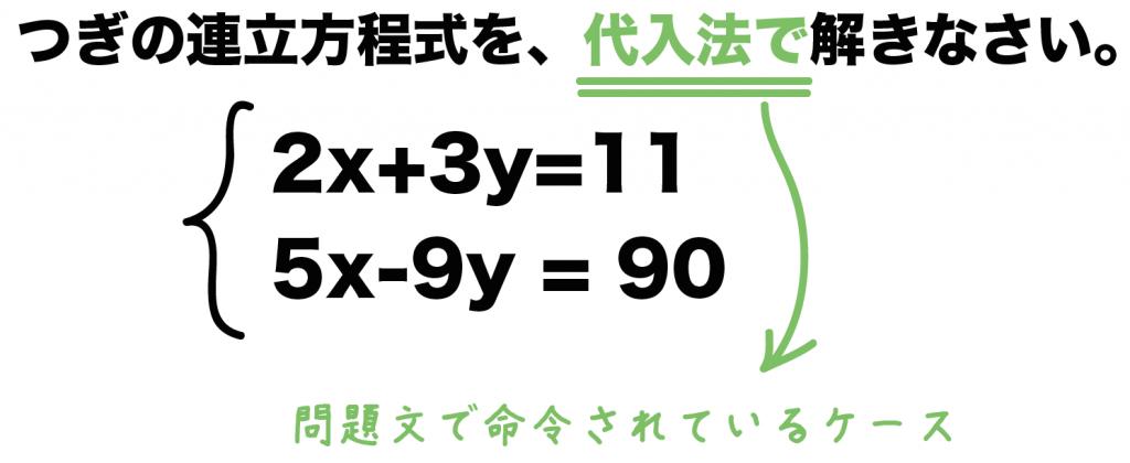 連立方程式 解き方 コツ