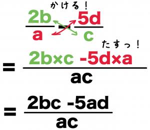 文字式 分数 通分