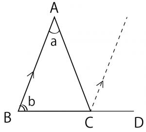 三角形の外角の定理