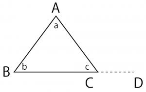三角形の内角の和 求め方