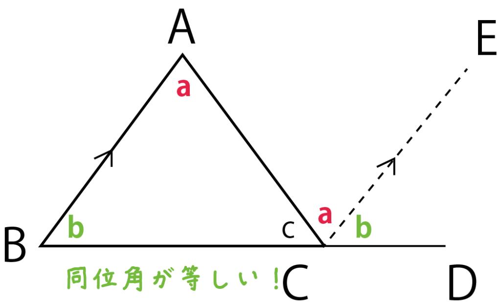 三角形の内角の和 証明 求め方