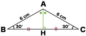 二等辺三角形 底辺の長さ 求め方