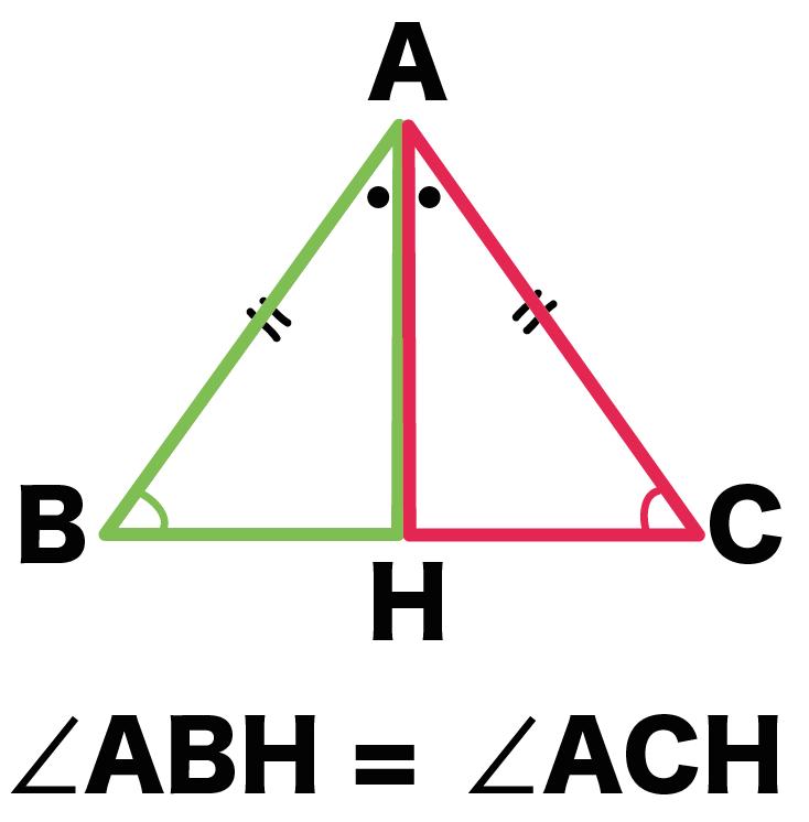 二等辺三角形 証明