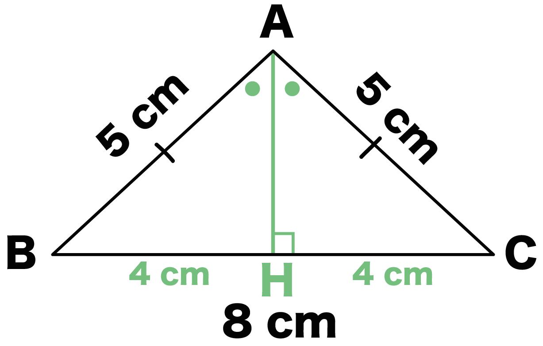 簡単計算】二等辺三角形の高さの...