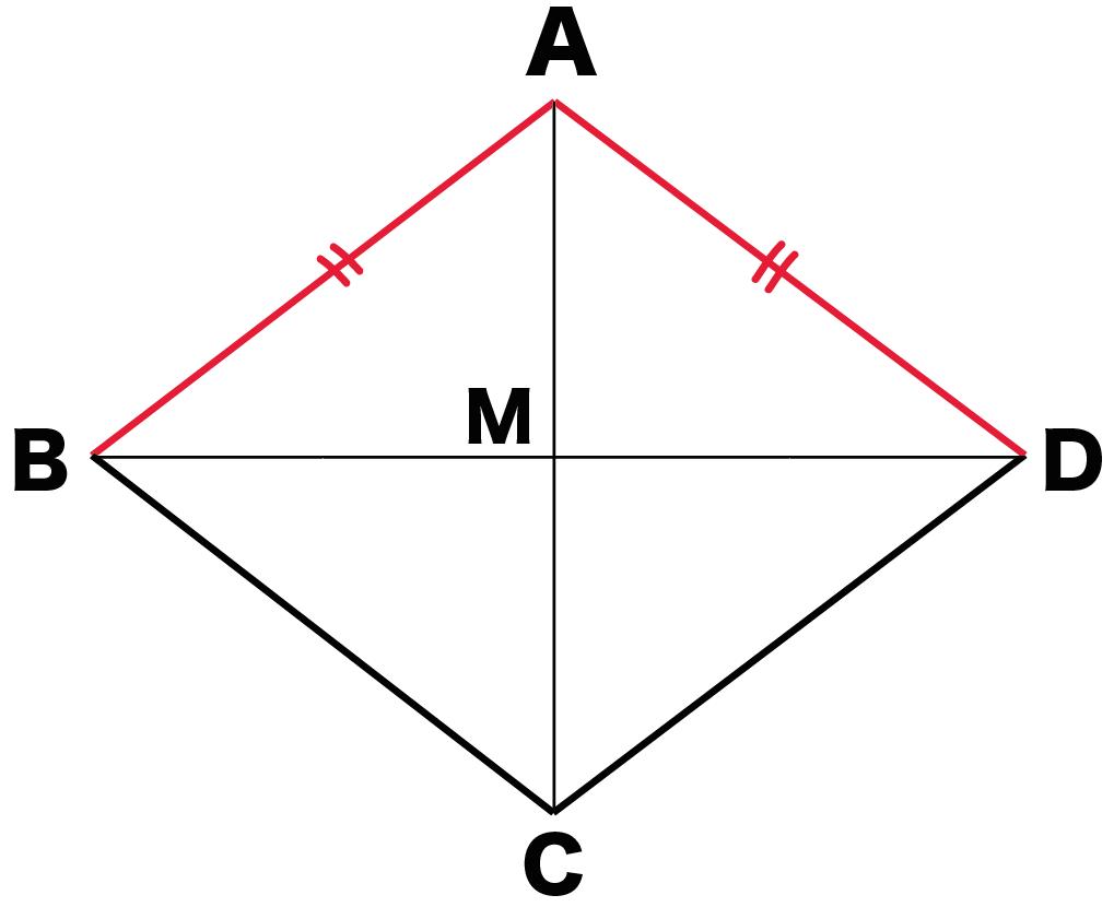 ひし形 対角線 性質