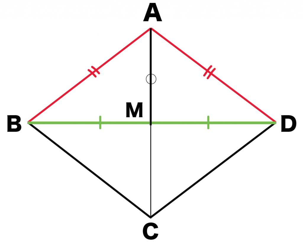 ひし形 対角線 定義