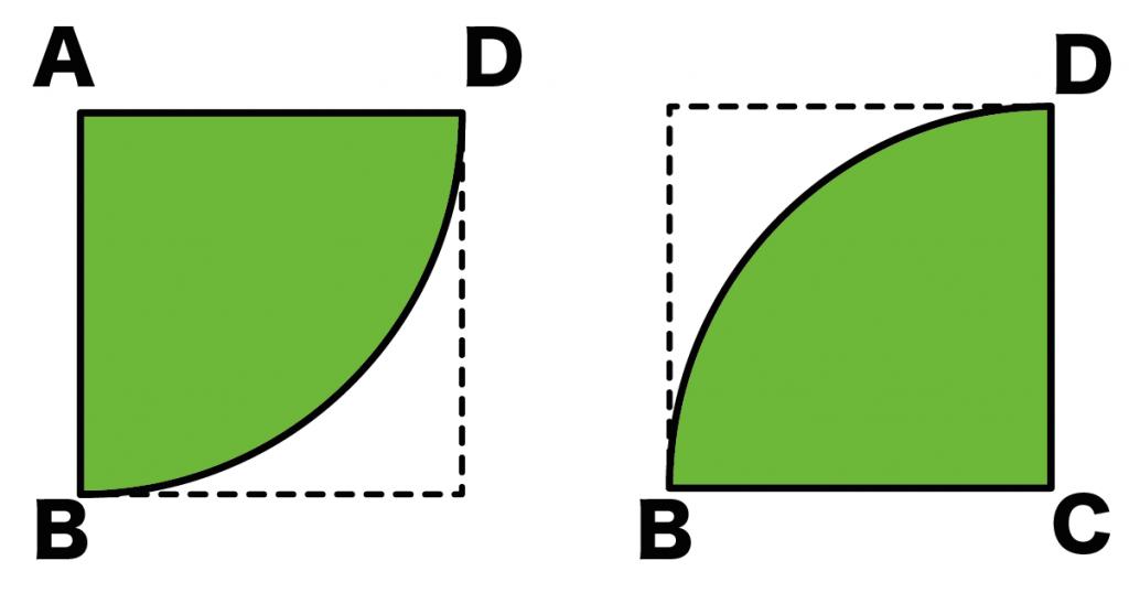 正方形 扇形 面積