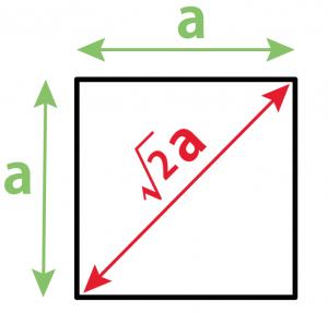 正方形 対角線の長さ 求め方 公式