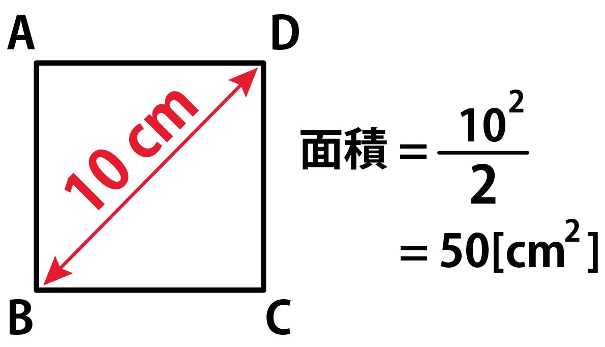簡単公式】対角線で正方形の面積...