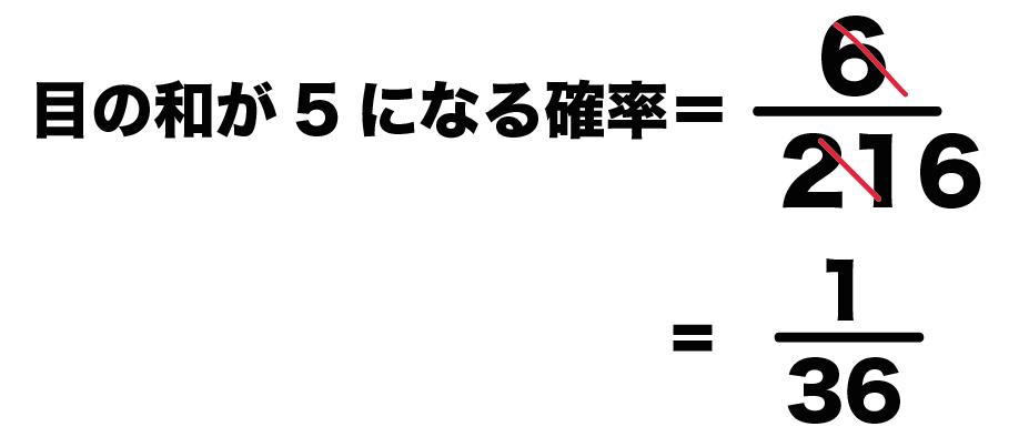 3つのサイコロ 確率 求め方