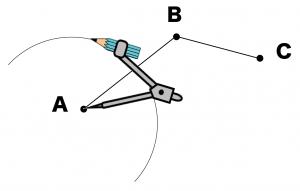 三点を通る円の中心 書き方 作図