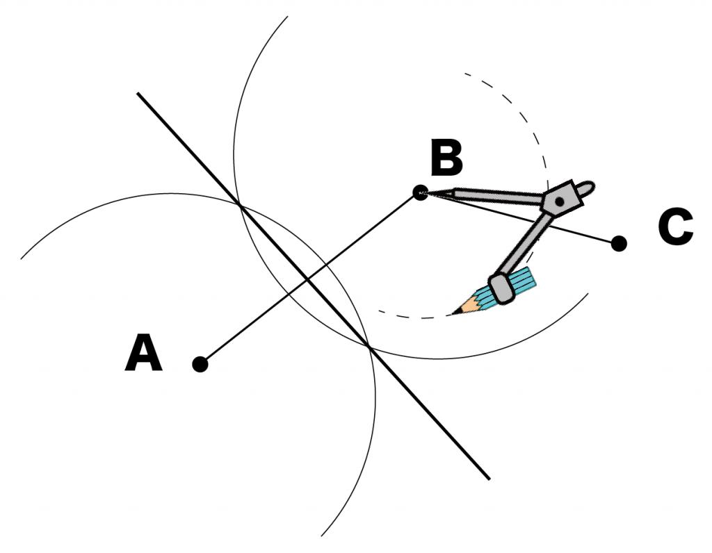 三点を通る円の中心