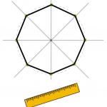 正八角形 作図 書き方 コンパス