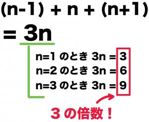 連続する3つの整数の和