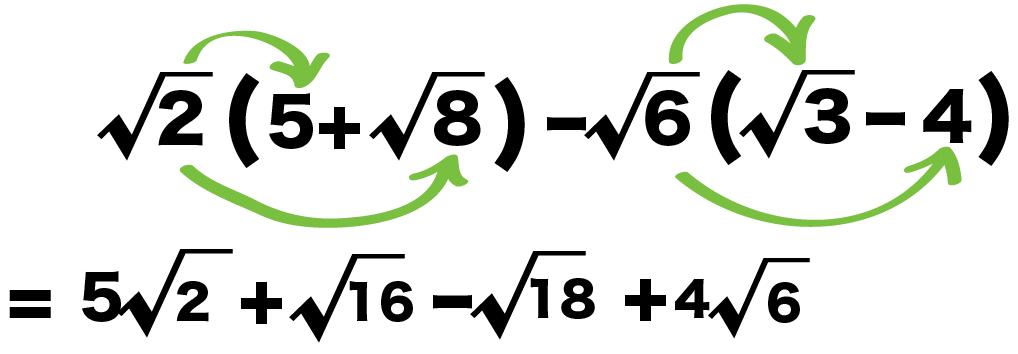 平方根 分配法則