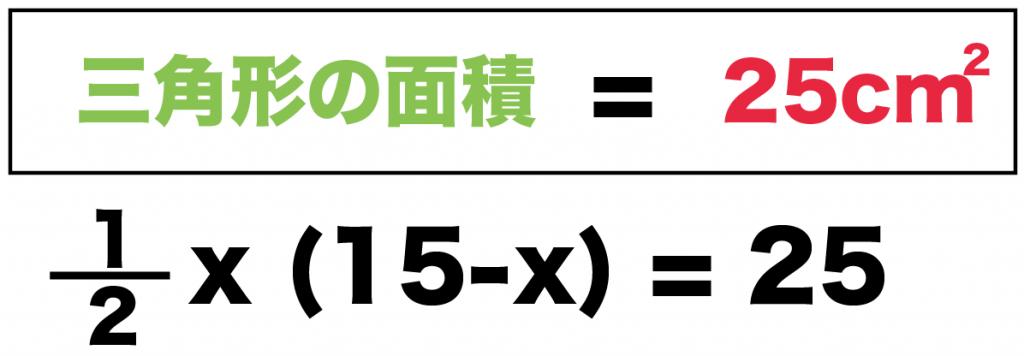 二次方程式の利用 面積