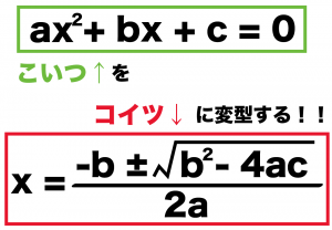 解の公式 証明