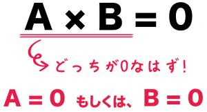 因数分解 二次方程式の解