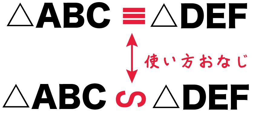 相似記号 覚え方