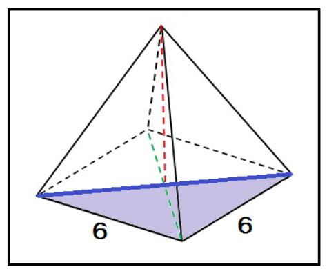 正四角錐 高さ