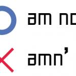 be動詞 否定文